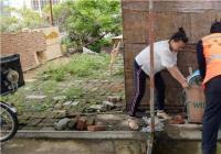 白丰社区清理乱堆乱放美化社区环境