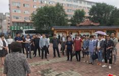 图们市组织部到新兴街道民昌社区参观学习