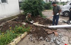 马葫芦塌陷存隐患 社区修复保安全