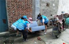 春光社区开展志愿服务 助力文明城市创建