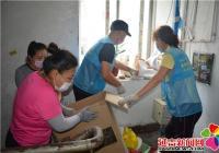 白新社区新时代文明实践站 为创城助力展志愿者风采
