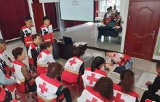 东阳社区党支部组织居民 开展红十字相关活动