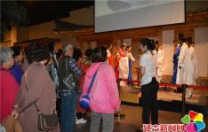 庆建国70周年 白玉社区参观延边博物馆