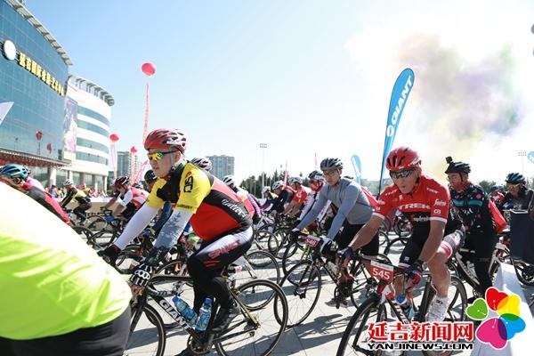 延边?韦特恩国际自行车赛 千名选手骑行最美边境线