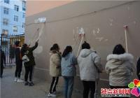 白玉社区组织学生开展志愿服务 整治乱贴乱画助力创城