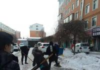 延春社区全力进行清雪