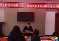 文新社区学习贯彻党的十九届四中全会精神