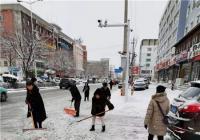 大雪纷纷兆丰年 文明社区清雪保出行