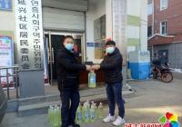 热心居民捐赠物资支援延兴社区疫情防控工作