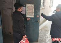 疫无情 人暖心  南阳社区下沉干部为居家人员提供温情服务
