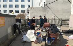 丹山社区整治环境卫生全面清理越冬垃圾
