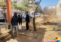 社区及时制止焚烧垃圾 维护小区安全