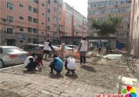 白菊社区开展文明城市创建与环境卫生整治活动