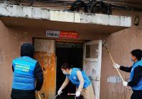 文庆社区联合市教育局共同开展蓝马甲创城志愿活动