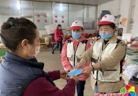 园法社区开展红十字志愿服务 助力疫情防控