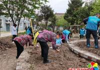 """延吉市公交集团走进社区 开展""""撒籽种花美化家园""""活动"""