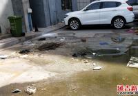疏通小区下水道 社区为民办实事