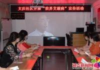 """文庆社区开展""""世界艾滋病""""宣传活动"""