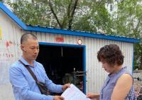 建工街道规范再生资源回收站助力创城