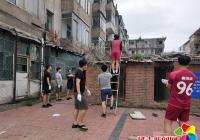 新兴街道开展清理辖区内乱堆乱放活动