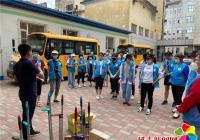 """团市委利用周末时间组织青年志愿者在晨光社区开展""""创城""""志愿服务活动"""