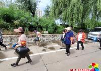 """新兴街道开展""""红袖标""""助力创城活动"""