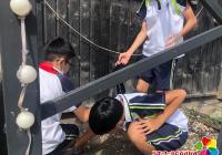 """园纺社区开展""""小小义工为创城助力添彩""""志愿服务活动"""