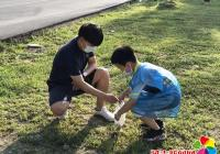 园纺社区小小志愿者参加创城志愿服务活动