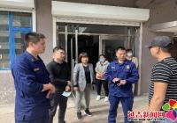 新兴街道红领岗为社区创城助力 开展消防安全专项检查