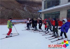 延吉中小学冰雪运动主题活动拉开帷幕