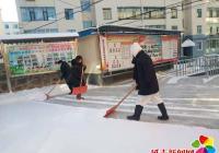 公园街道各社区扫雪铲冰总动员  严寒清雪暖人心
