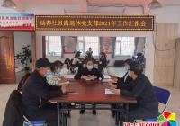 延春社区离退休干部党支部召开工作汇报会