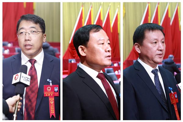 延吉市十八届人大五次会议新当选人员接受媒体采访