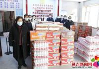 延吉市总工会为北山街道赠送抗疫物资