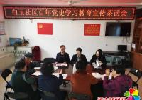 白玉社区开展百年党史学习教育宣传茶话会