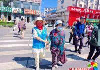 建工街道长生社区开展文明交通志愿劝导员服务活动