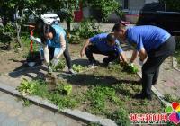 白新社区联合城市管理行政执法局开展持续创城常态化环境卫生日