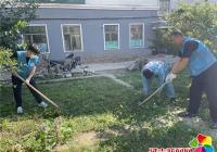 """新兴街道民和社区开展""""清除杂草 美化家园""""志愿服务活动"""