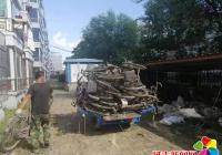白丰社区开展废旧自行车清理整治行动